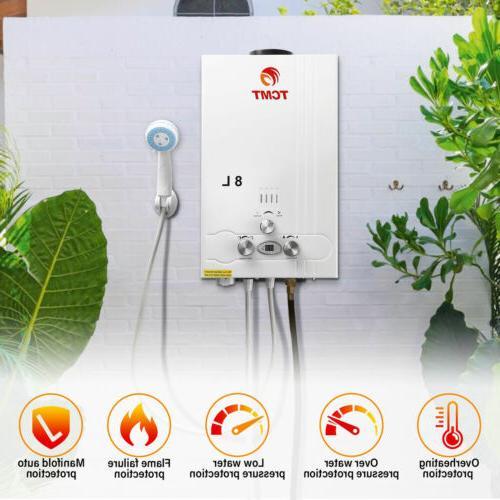 2gpm instant tankless boiler 8l house lpg