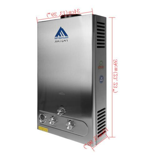 12L 3.2GPM Propane Water Heater Instant Hot Shower