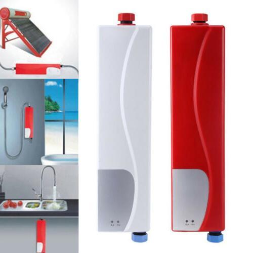 3000W Electric Tankless Heater Bathroom Kitchen Hotel Instan