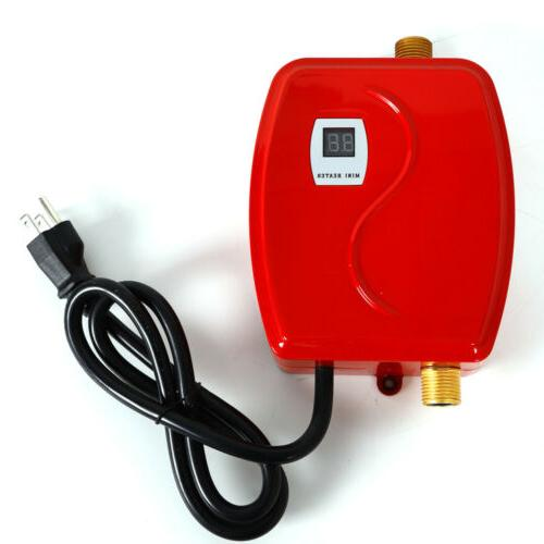 3000W 110V Mini Instant Electric Tankless Heater Shower Kitchen