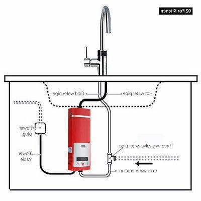5500W Mini Shower Water Heater Kitchen