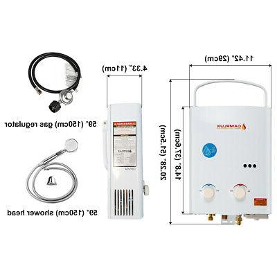 Camplux 5L Tankless Water Heater +1.2GPM Water Pump