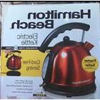 6-Cup Electric Kettle Stainless Hamilton Beach 1.7L Cordless