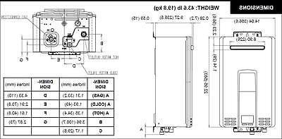 Rinnai 6.6 GPM Exterior 150,000 .82 EF Water Heater