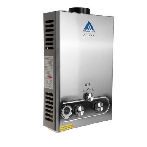 8L Tankless Instant Water Boiler Propane Panel