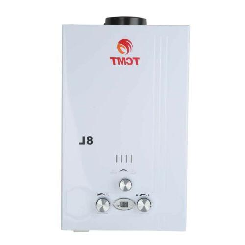 8L Gas Tankless Instant Water Boiler Propane Panel Head