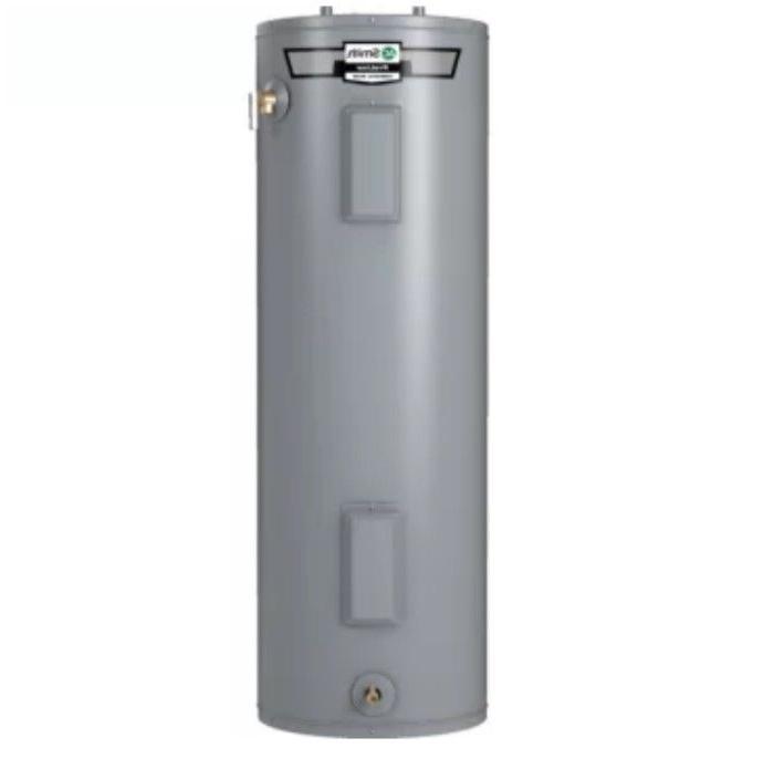 """A.O. Smith 50-Gallon Medium Electric Water Heater 23"""" D x 50"""