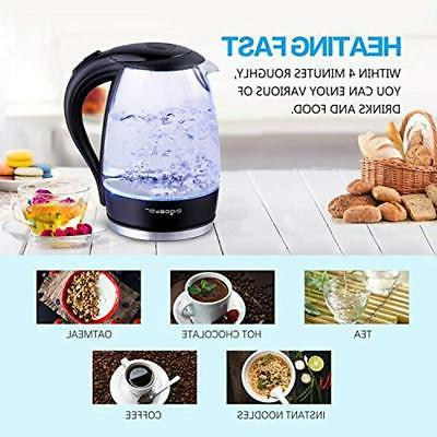 Adam Electric Water Kettle 1.7L Pot With Blue
