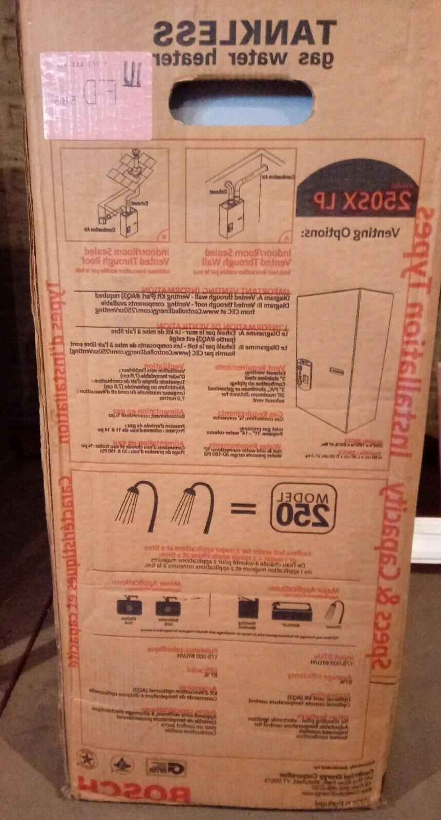 Bosch Tankless Gas Water New in