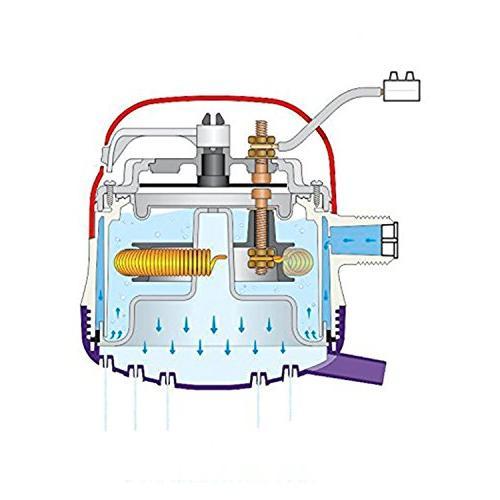 GARLAT 110V Instant Hot Shower Heater Super Flexible Stainless Steel Rainfall Head