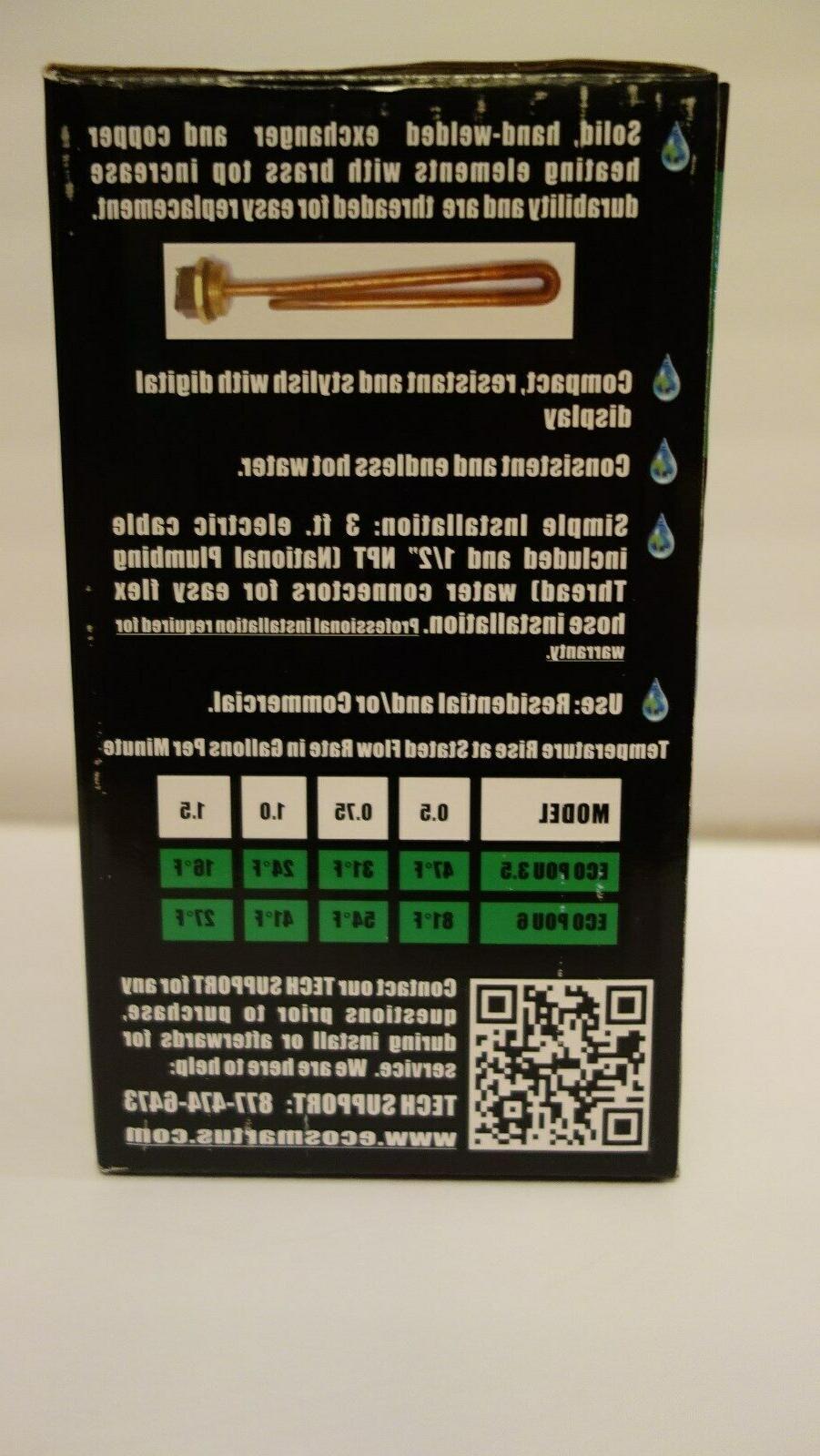 Sale! EcoSmart 6 Electric 6kw Water Heater Eco Smart