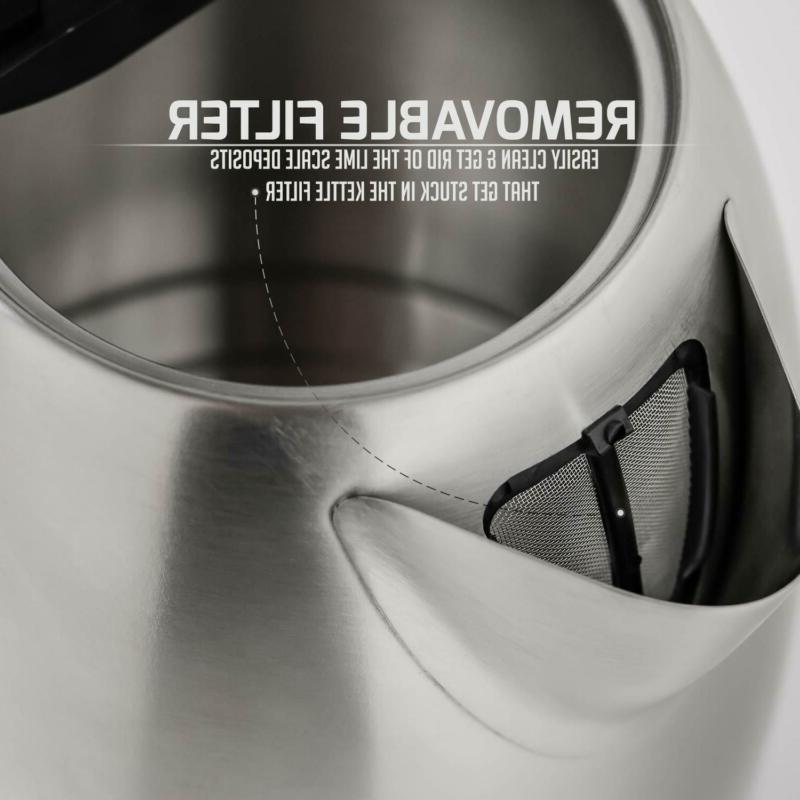 Ovente Kettle, Cordless Tea And Heater, Automatic Shut-Off Boil