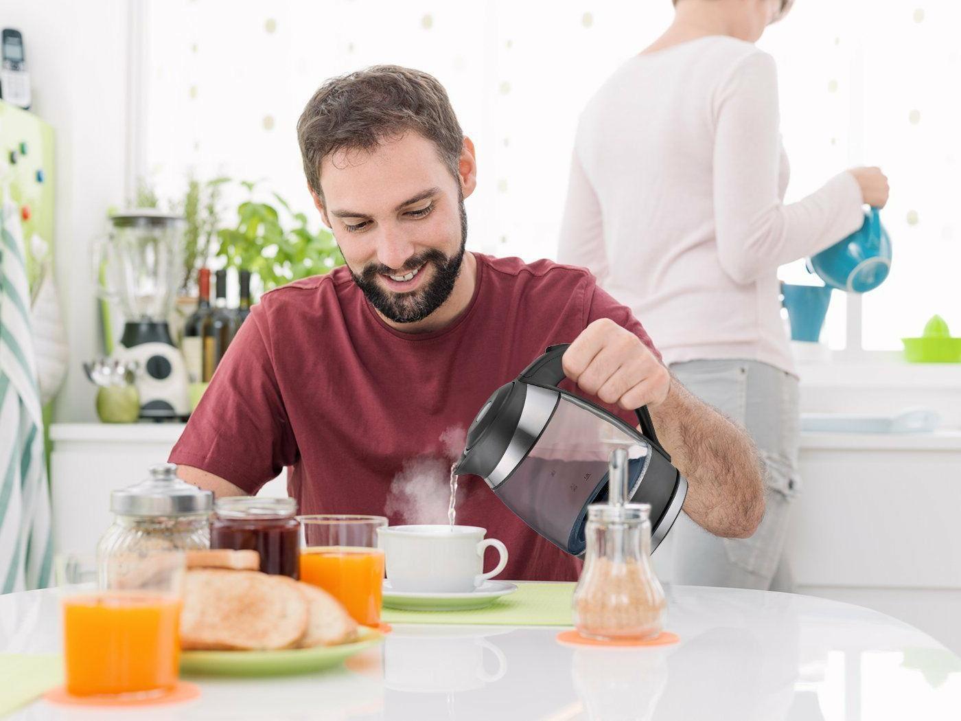 Best Electric Ultra Boiling Glass Tea Coffee Light