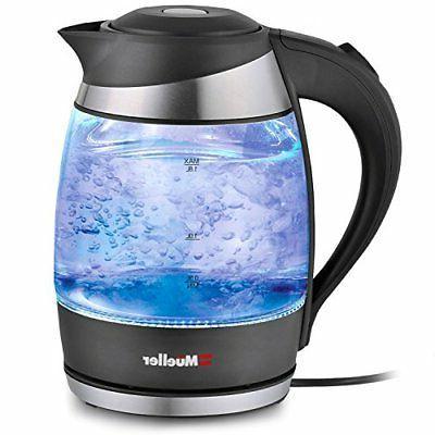 Electric Kettle Water Heater Tea Coffee Pot LED Light Auto S