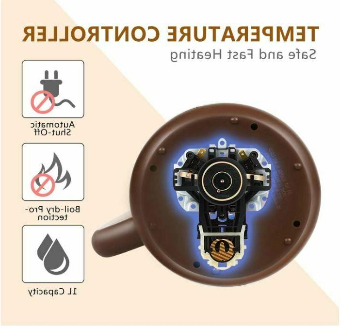 Electric 1.0 L Mini Tea Boiler 1100W White
