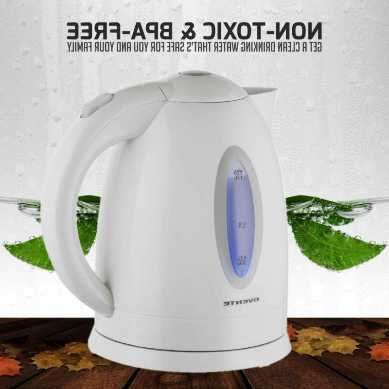 Ovente Kettle 1.7 with Shut-Off and Protec