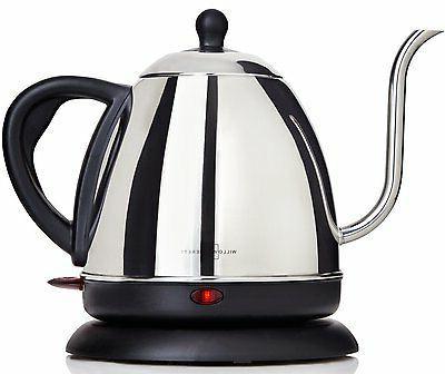 Electric Teapot Gooseneck Kettle Coffee Tea Maker 1 L Stainl