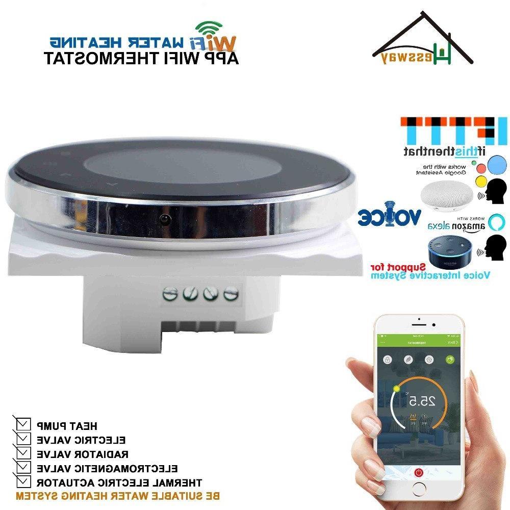 EU Round Heating thermostats WIFI smart Works Alexa Google home