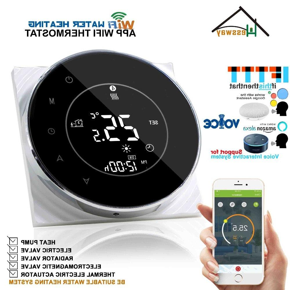 eu round radiant floor heating thermostats wifi