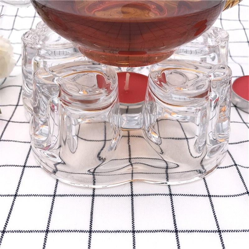 Arshen <font><b>Glass</b></font> Heart Shaped Teapot Heating Base Coffee Scented Tea <font><b>Heater</b></font>