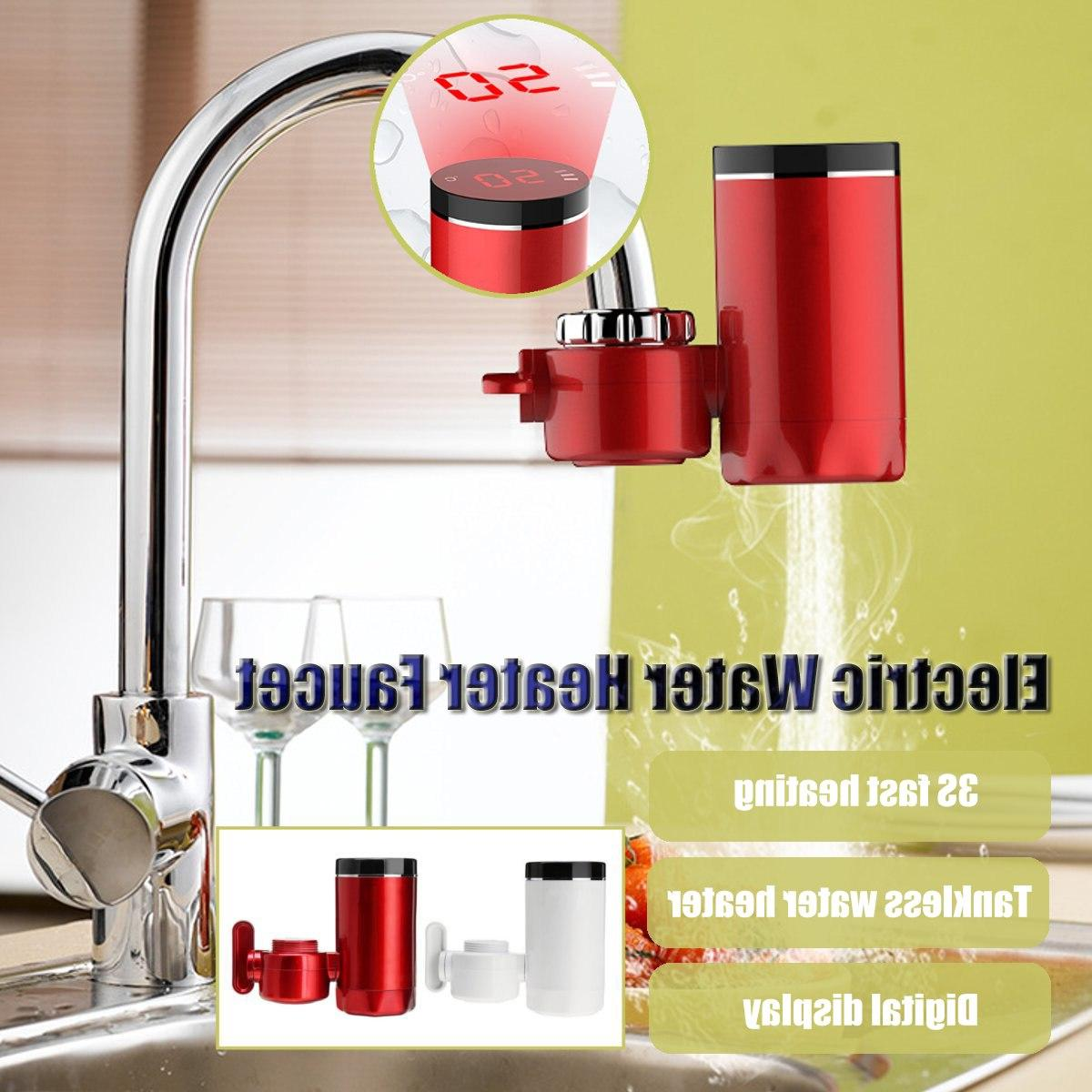 Kitchen Instant Hot <font><b>Water</b></font> 3000W LCD Display <font><b>Water</b></font> <font><b>Heater</b></font> Electric Heating Tap