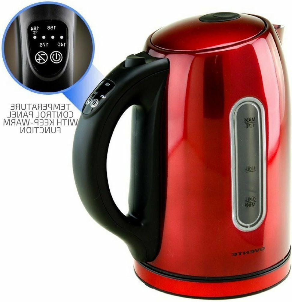 Ovente Free Stainless Steel Electric Kettle Auto No Beep