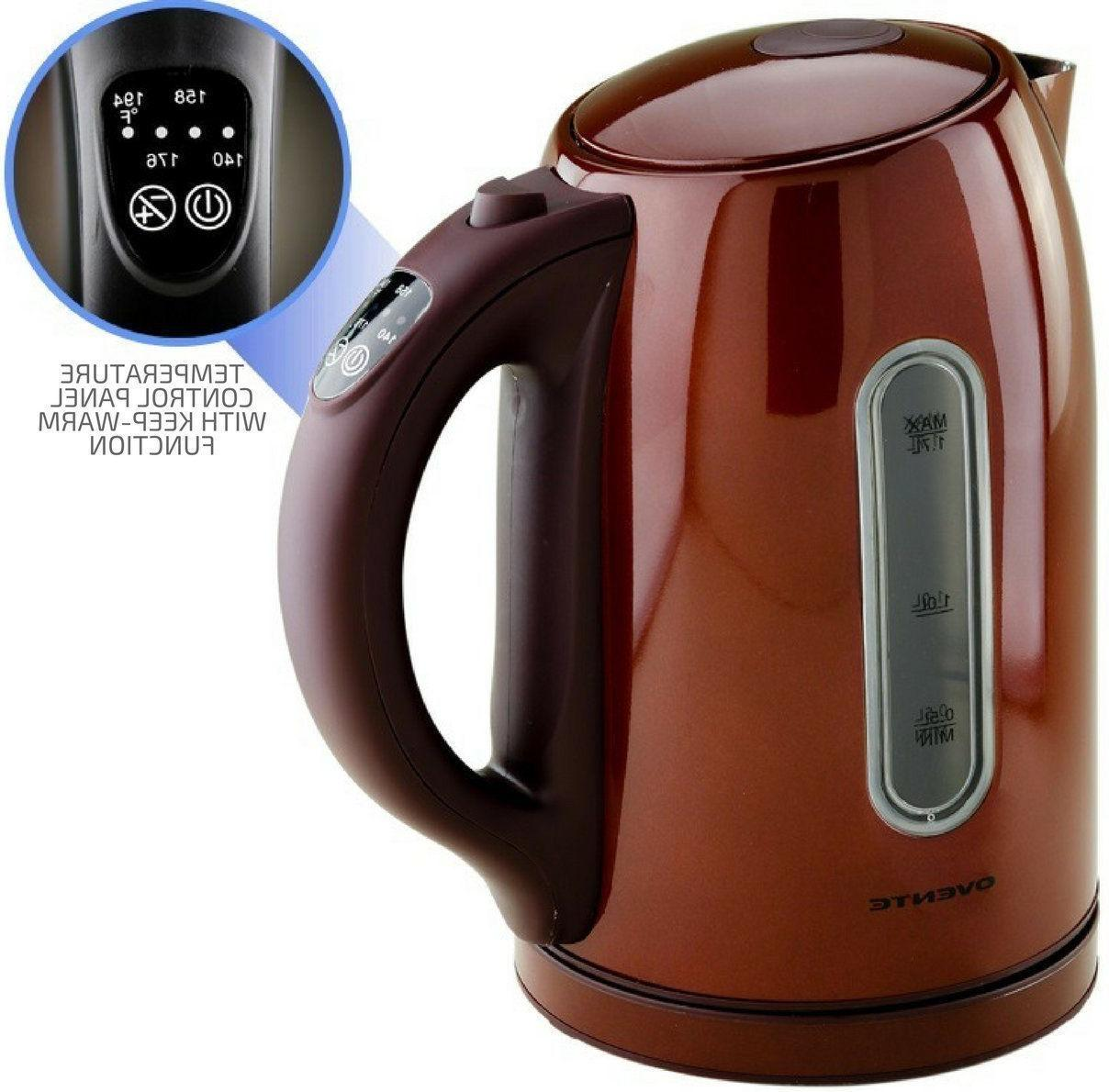 Ovente KS89 1.7L BPA Free Stainless Electric Kettle Shut Off