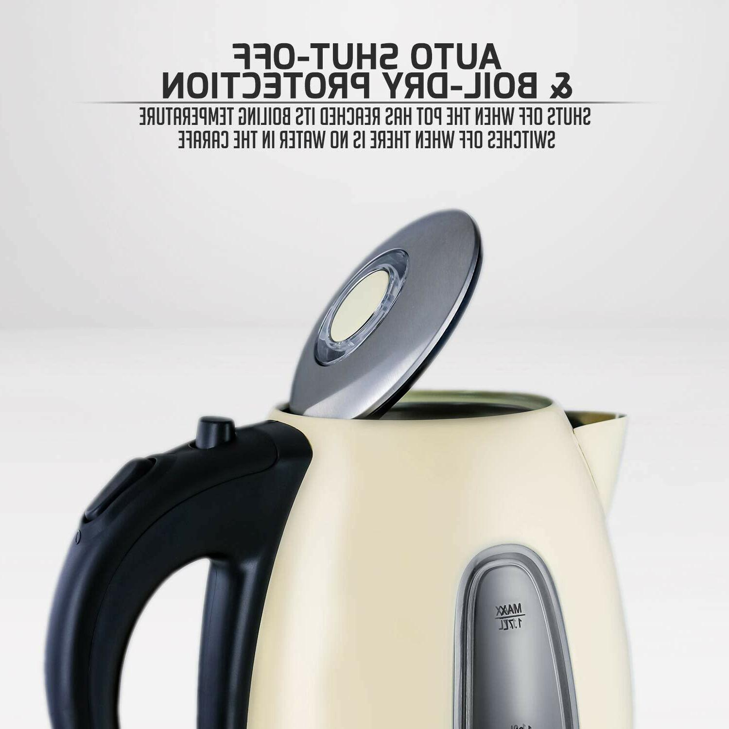 Ovente Electric Kettle, Cordless Tea And Heater,