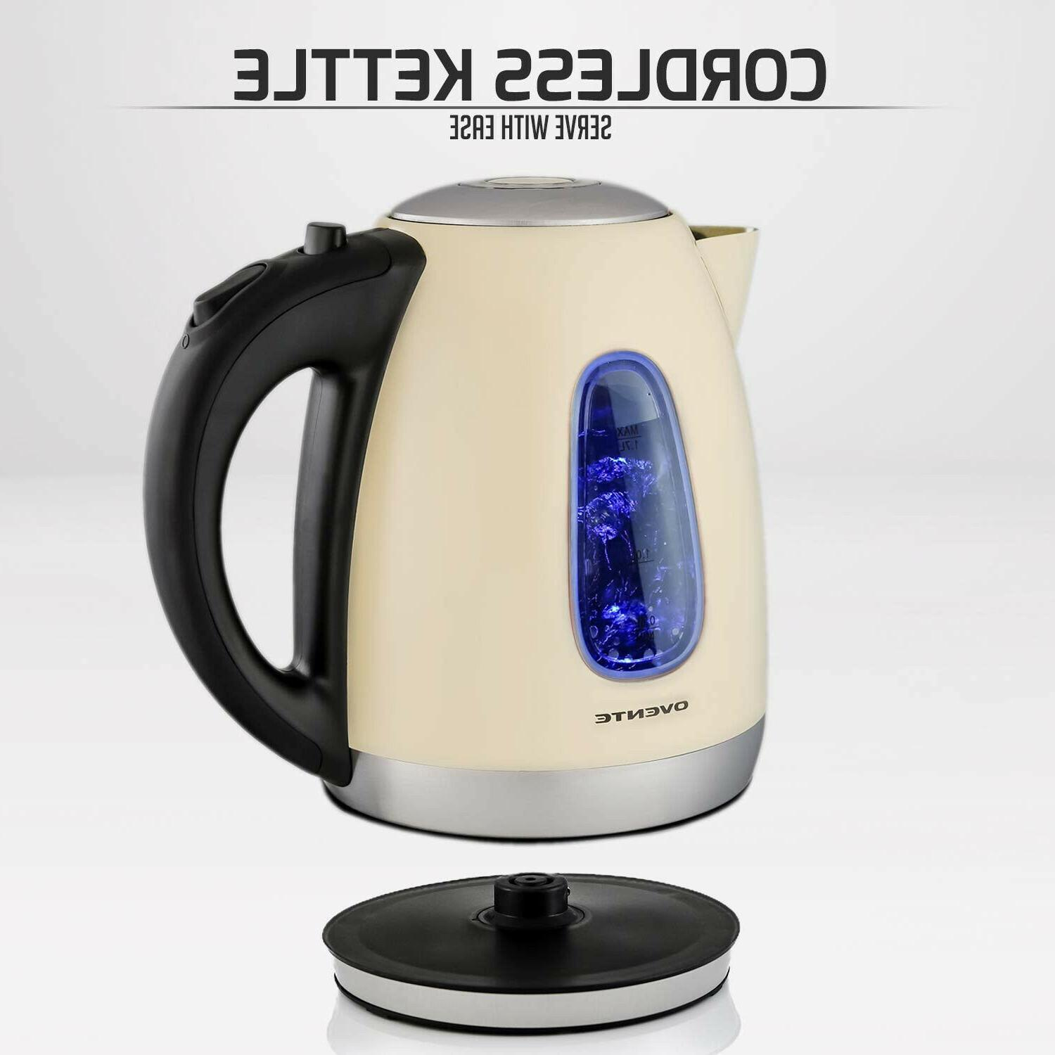 Ovente KS960BG Electric Kettle, Cordless Water Heater, Shut-Of