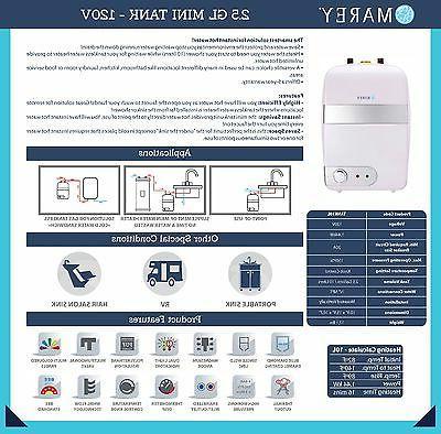 Marey Mini electric water heater - 2.5 GL TANK10L
