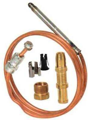 ROBERTSHAW 1980-024 Repl Thermocouple, Snap Fit, 24 In