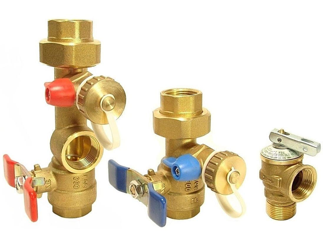 Rheem - Tankless Water Heater Isolation Valves Kit With Reli