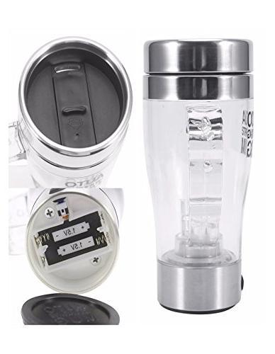 Multipurpose Mixer Auto Stir Coffee Tea Cup Portable Electric Stainless Steel Transparent Mengshen Self Stirring Mug A034