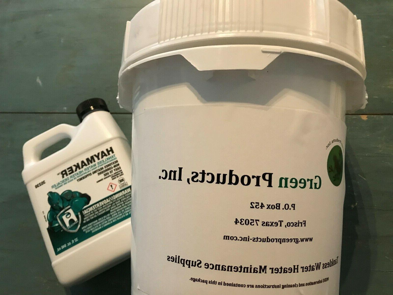 tankless water heater cleaning flushing descaler kit