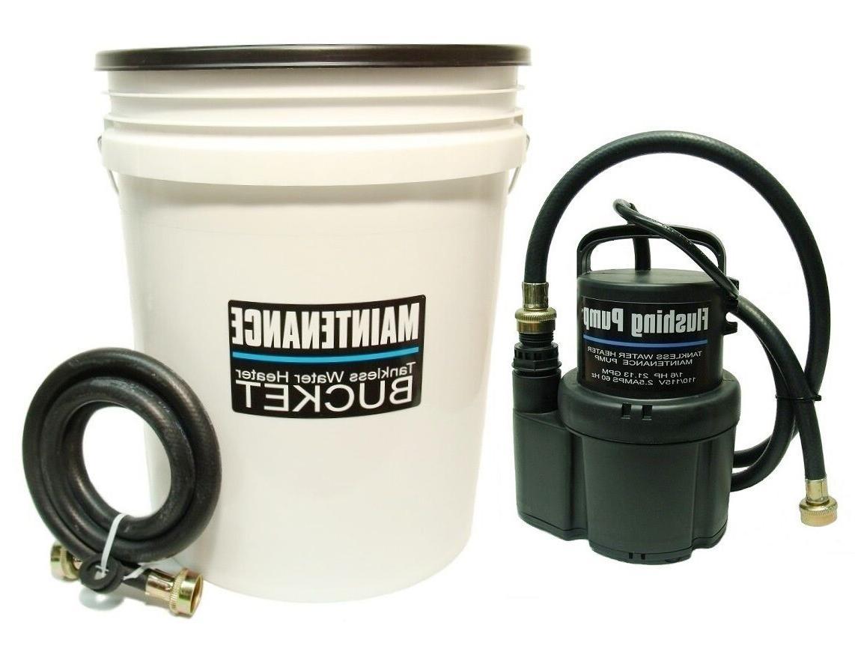 tankless water heater flushing descaling kit rheem