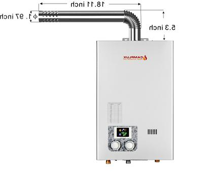 10L 2.64GPM Tankless Water Heater Indoor Propane Color Displ