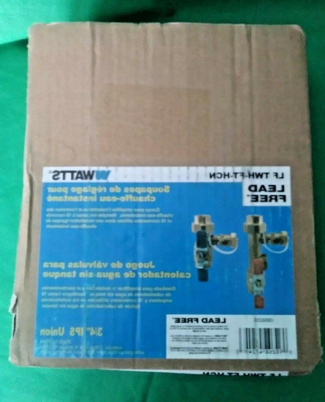 """Watts Tankless Water Heater Valve Set 3/4""""IPS Union LFTWH-"""