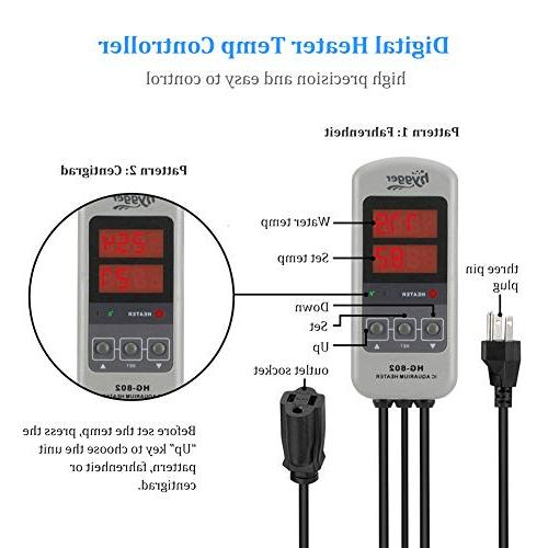 Hygger Titanium for Water Fresh Water, Heater External IC Thermostat Controller for Tank 20-45 Gal