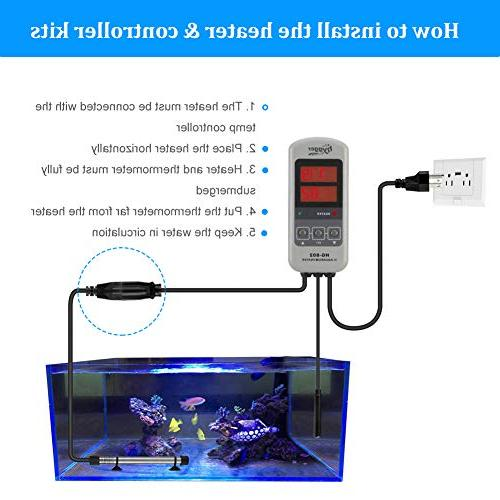 Hygger Aquarium Heater for Fresh Digital Heater with Thermostat and for Fish Tank 20-45 Gal