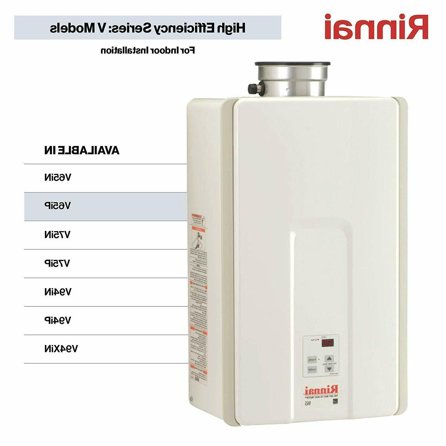 Rinnai V65IP 6.6 GPM Indoor Low NOx Tankless Propane Water H