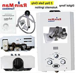 Rain Man L6 Tankless Water Heater Liquid Propane 2.0 GPM Dig