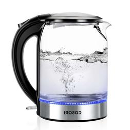 Led Electric Kettle Best Tea Water Heater Boiler Glass Cordl