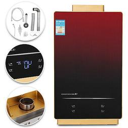 Natural Gas Indoor Tankless Water Heater Touch Screen LED Te