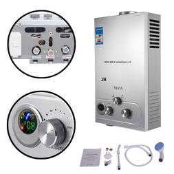 Minneer Natural Gas Tankless Water Heater Adjustable Portabl
