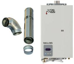 Natural Gas Tankless Water Heater Deluxe 4.4 GPM 85,000 BTU