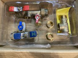 New! AO Smith Tankless Water Heater Isolation Valve Kit #107