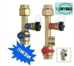 "Navien-3/4""Tankless Water Heater LEAD FREE  Isolation Valve"