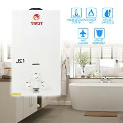 On Demand 12L Hot Water Heater 3.2GPM Tankless Natural Gas H