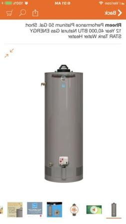 Rheem Performance Platinum 50 Gal. Short Water heater 12 Yea