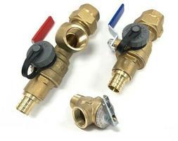 """PEX 3/4"""" Tankless Water Heater Isolation Valve Kit, Noritz,"""